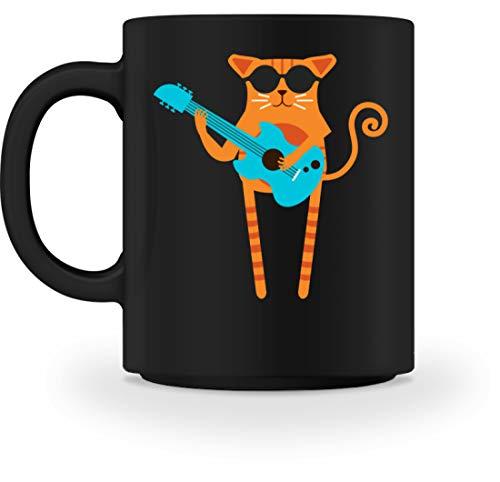Rocker Cat - Taza, diseño de gato Negro M