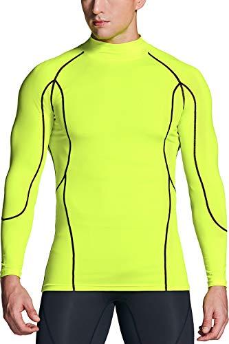(テスラ)TESLA 長袖 ハイネック コンプレッションシャツ スポーツウェア [UVカット・吸汗速乾] コンプレッションウェア ランニングウェア スポーツ シャツ MUT32-NEY_L