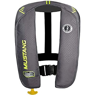 Mustang Survival Corp M.I.T. 100 Auto Activation PFD, Gray/Fluorescent Yellow Green by Mustang Survival