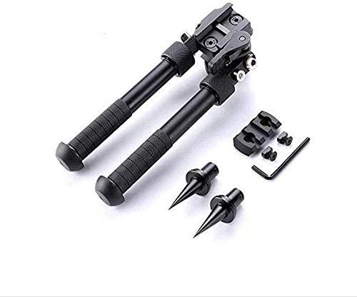 N / C Bípode táctico Keymod para Rifle de Aire de 6,5 a 9 Pulgadas, Montaje de Palanca CNC QD Ajustable, Adaptador Giratorio de 360 Grados con Clavo bípode y Montaje en riel Picatinny
