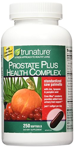 Trunature Saw Palmetto Prostate Health Complex with Zinc, Lycopene and Pumpkin Seed, 250 Softgels