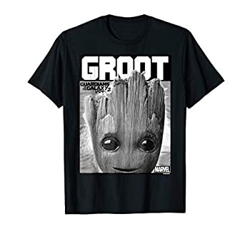 Marvel Guardians Vol 2 Baby Groot Close-Up Graphic T-Shirt