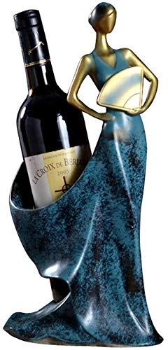 HJXSXHZ366 Estantería de Vino Vino Estante botellero, botellero Sencilla Pantalla del Bastidor Interior Creativa Interior Europeo Estante de Vino pequeño