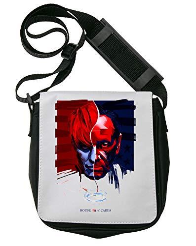 House of Cards Logo Frank Underwood Face Painted Schultertasche Herren Umhängetaschen Damen Taschen Unisex Shoulder Bag
