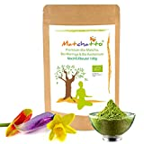 💚 Matchatto - 100g Bio Matcha Tee (Tencha Schattentee), Bio Moringa Oleifera Pulver, Bio grüner Kardamom. 3 Zutaten sonst nix. Energie für Deine Sinne. (DE-ÖKO-070)