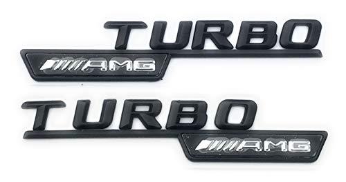 AMG Turbo Kotflügel-Emblem/-Logo, schwarz