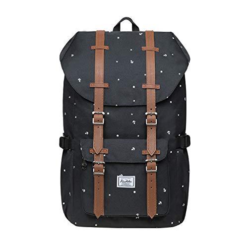 KAUKKO Rucksack Damen Herren Studenten Backpack für 15