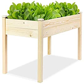 Incbruce 4ft Wooden Raised Garden Bed Planter, No-Bolt Assembly Elevated Flower Bed Boxes Kit for Vegetable Flower Herb Gardening, Natural 2 【Sufficient Space for Planting】This garden bed planter is separated into two growing areas for different plants or planting methods. The baffle can be removed to create a bigger growing area if needed. You can get several garden beds to design and build your own dream garden 【Selected Material】Our raised garden bed is made of no paint, non-toxic Pinus sylvestris wood and left untreated, which means it is organic and safe to grow vegetables, herbs, and fruits in. 【Stable and Durable Frame】The whole construction is made of long-lasting solid fir wood which is stable and durable enough to strongly support the weight from the garden bed itself and plant. Wood material will keep durable, warped or splinter and fade. This will save cost for you.