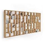 Mobili Fiver, Bibliothèque XXL Iacopo (236,4 x 482,4 cm), Bois Rustique, Mélaminé, Made in Italy
