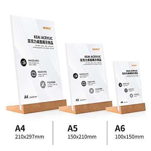 Z·Bling Acryl Kunststoff Durchsichtigem Tischaufsteller A4/A5/A6 -Einseitiger Schräger Aufsteller Prospektständer Prospekthalter fur Menükartenhalter Aufsteller, Werbeaufsteller Set