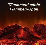 CBK-MS. LED Kunststoff Laterne Kamin mit Flammen Optik Batteriebetrieb 30 cm Tischkamin mit täuschend echten Flammeneffekten - 6