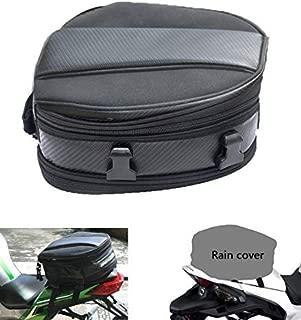 Motorcycle Tail Bag, Meago Multifunctional Sport Seat Bag Nylon Luggage Bag Motorbike Back Seat Bag Tear-Resistant Motorbike Accessories Bag for Universal Fit,15 Liters (Tail Bag)
