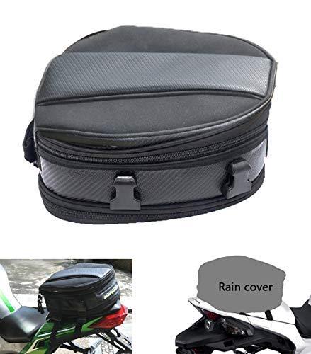 Motorcycle Tail Bag, Meago Multifunctional Sport Seat Bag Nylon Luggage Bag Motorbike Back Seat Bag Tear-Resistant Motorbike Accessories Bag for Universal Fit,15 Liters