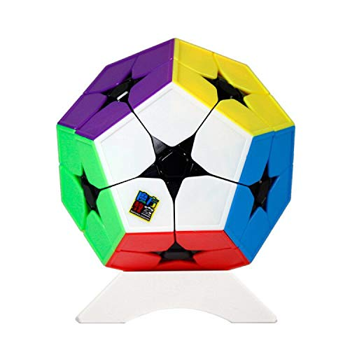 OJIN MoYu MoFang JiaoShi Meilong 2x2 Megaminx Dodecaedro Cubo mágico Cubing Aula Meilong Kibiminx Puzzle Cube con un trípode (Megaminx Dodecahedron Scrub Stickerless)