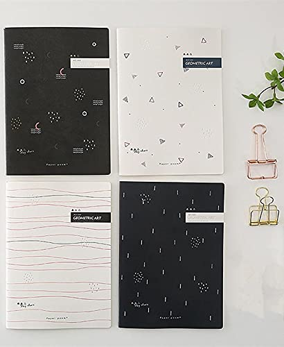 FACHAI 4 cuadernos de notas bonitos para la creación de diarios, 20,8 x 14 cm