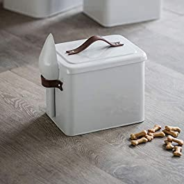 Garden Trading Pet Bin with Leather Handle