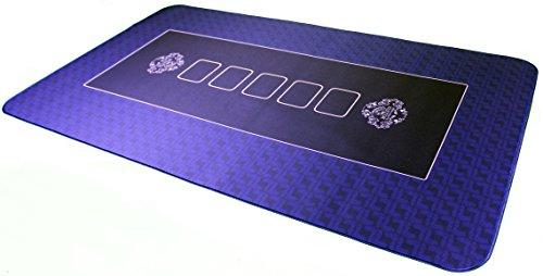 Bullets Playing Cards Pro Tapis de Poker 100x60cm Bleu de