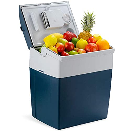 HRRF Mini refrigerador portátil, calefacción de refrigeración 30L Antirust Little refrigerador Adecuado para automóviles Family Dorm Office-Blue Blue