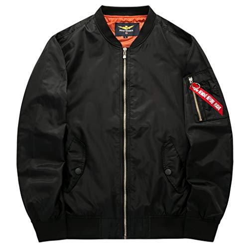 Lixiyu bomberjacks, lichte klassieke herenjas, mantel ritssluiting, vliegenjack paar baseballuniform
