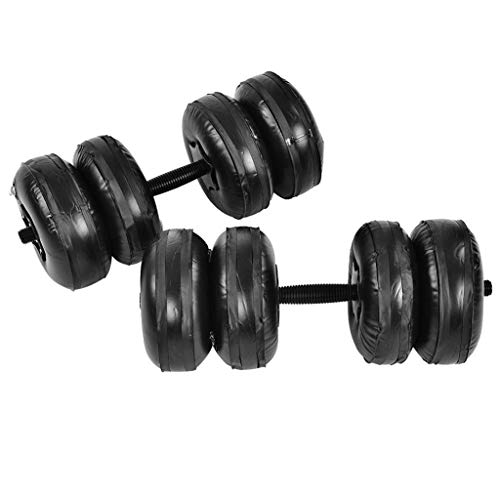 Dumbbells 15-25kg Fitness Water Filled Dumbbell Training Arm Muscle Fitness Adjustable Convenient Water Injection Dumbbell Weight Lifting (Size : 20-25kg)