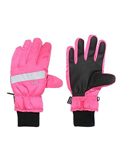 maximo Mädchen Fünffinger mit Strickbündchen Handschuhe, Rosa (Fandango Pink 60), 4 (Herstellergröße: 4)