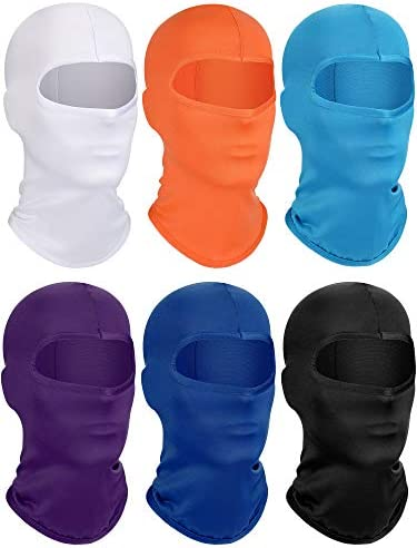 6 Pieces Kids Hood Balaclava Ski Windproof Face Covering Breathable Long Neck Gaiter for Outdoor product image