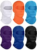 6 Pieces Kids Hood Balaclava Sun Protection Face Covering Breathable Long Neck Gaiter for Outdoor Activities