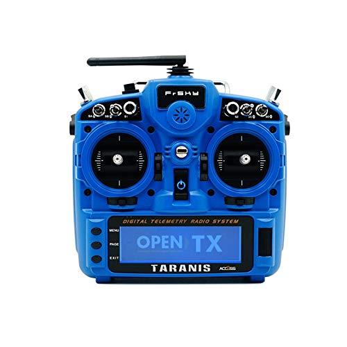 Jullyelegant FrSky Taranis X9D Plus 2019 24CH Access ACCST D16 Modo 2 Transmisor M9 Hall Sensor Gimbal para Capacitación inalámbrica - Azul