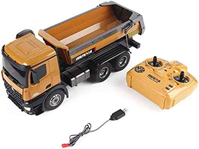 WEIHANA HUINA Toys 1573 1 14 10CH Alliage RC Dump Trucks Ingénierie Construction Construction Télécomhommede Véhicule Jouet Jouet RTR