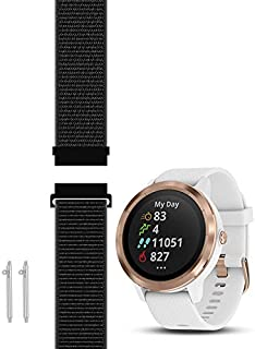 C2D JOY Compatible with Garmin Vivoactive 3 (Music) and Vivomove (HR) Replacement Band with Custom Quick Release Spring Bar, Sport Mesh Strap Nylon Weave Watchband for Sports - S/M