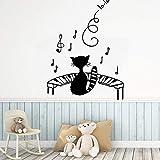 BailongXiao Música de Dibujos Animados Papel de Vinilo Autoadhesivo para niños...