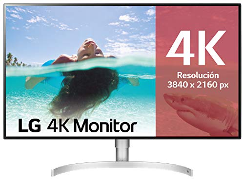 "LG 32UL950-W - Monitor 4K UHD de 80 cm (31,5"") con Panel IPS (3840 x 2160 píxeles, 16:9, 450 cd/m², DCI-P3 >98%, 1300:1, 5 ms, 60 Hz) Color Blanco"