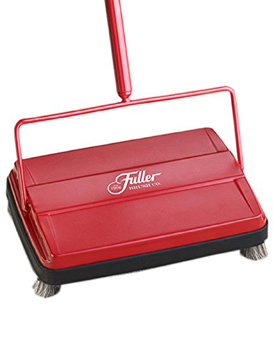 "Fuller Brush 17052 Electrostatic Carpet & Floor Sweeper - 9"" Cleaning Path - Lightweight - Ideal for Crumby Messes - Works On Carpets & Hard Floor Surfaces - Red"
