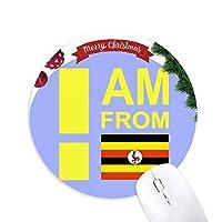 私はウガンダから クリスマスツリーの滑り止めゴム形のマウスパッド