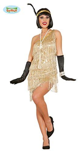 Guirca Womens 1920 gouden Flapper jurk kostuum L Goud