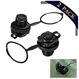 Tomato Palace 2 PCS Air Valve Replacement, Kayak Raft Plug Replacement, Inflatable Boat Spiral Air Plug, Air Mattress Plug Replacement, Boston Valve for Rubber Dinghy Pool Boat Airbeds