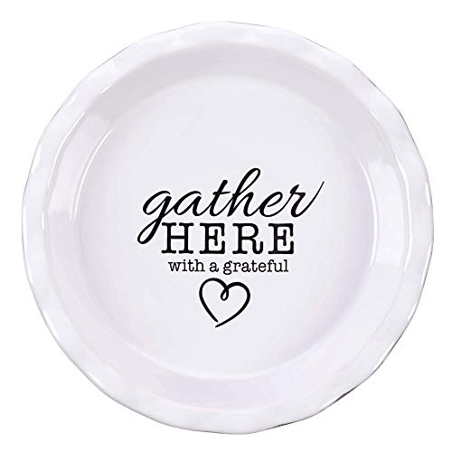 Gather Here Ceramic Pie Plate