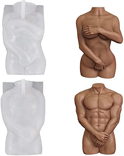 Duyifan 2Pcs Molde de Silicona Velas, DIY Cuerpo Humano 3D Molde de Vela Femenina Molde para Hacer Pasteles de Chocolate, para Hacer Tartas, Manualidades y decoración del hogar