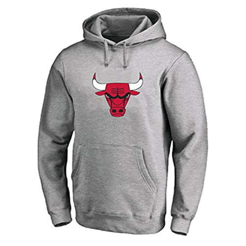 Baloncesto Jordan Hoodies Chicago # 23 Sudadera con Capucha Bulls Juego de Baloncesto Sudadera Casual Juego Sudaderas para Hombres S-5XL grey-5XL