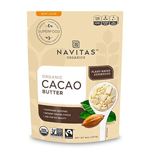 Navitas Organics Cacao Butter, 8oz. Bag - Organic, Non-GMO, Fair Trade, Gluten-Free & Keto