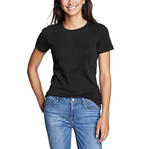 Eddie Bauer Women's Favorite Short-Sleeve Crewneck T-Shirt, Black Regular M
