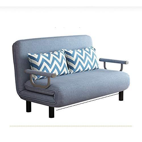 Sofá Cama Plegable de 100 CM, sillón, sillón reclinable de Ocio, Tela, sofás Perezosos Transpirables, sofá Cama Individual para Sala de Estar