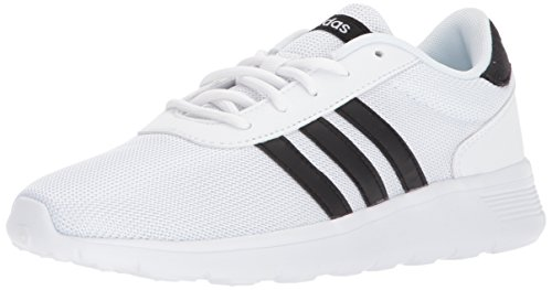 adidas Originals Lite Racer Zapatillas de running para mujer, blanco (blanco/negro/blanco), 36.5 EU