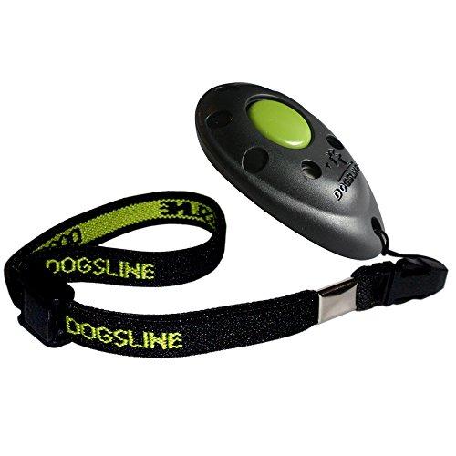 DOGSLINE Profi Clicker mit elastischer Handschlaufe für Clickertraining, schwarz, DL01PA