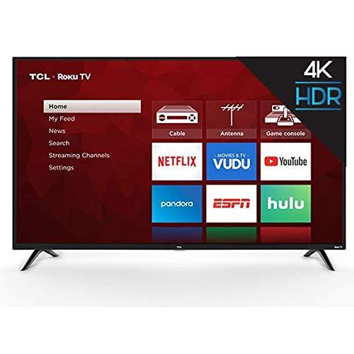 "TCL SmartTV Led de 65"" Roku 4K UHD LED HDR10 Compatible con Alexa y Google Assistant | Netflix | Youtube | Prime Video | + Aplicaciones 65S421(Renewed)"
