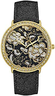 Guess Dress Watch for Women, Genuine Leather, Analog - W0820L1