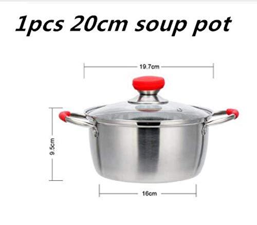 Marmite en acier inoxydable Une/deux couches marmite à soupe bouillies Cuisinière à gaz durable marmite à soupe - Maison et jardin marmite à soupe et soupe de pot, 18cm marmite à soupe Huangwei7210