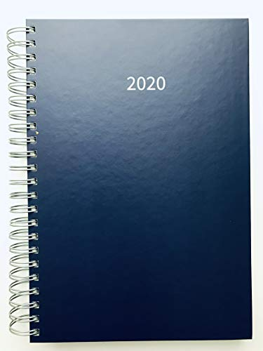2020 großer Bürokalender DUNKELBLAU - 1 Tag = 1 DIN A4-Seite