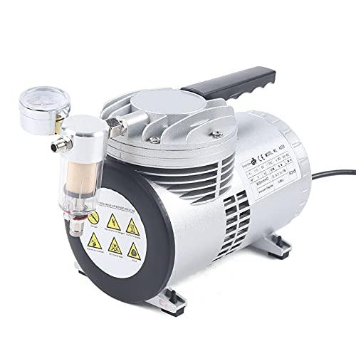 1450/1700 rpm. Bomba de aire procesado automática, sin lubricación de aceite, bomba de succión, bomba de compresión química, 3,7 kg con medidor de vacío