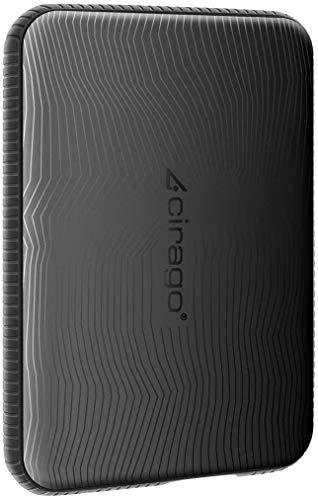 CIRAGO 外付けHDD ポータブルハードディスク 320GB 耐衝撃型 2.5インチ USB3.0に対応 テレビ録画/PC/Mac/PS4/XBox適用 (Black)